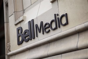 The logo for Bell Media, owned by BCE Inc., is displayed on a Toronto building in a handout photo. THE CANADIAN PRESS/HO, Bell Media - Darren Goldstein