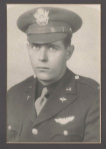 """This image provided by Sandi Jones shows 1st Lt. William """"Laddie"""" Bernier, whose remains have been identified and will be returned to family members 70 years after his B-24 bomber was shot down over Papua New Guinea during World War II. Bernier was the bombardier, stationed in a glass cockpit in the aircraft's nose and responsible for sighting and releasing its bombs. (AP Photo/Sandi Jones)"""