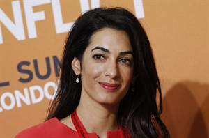 Human rights lawyer Amal Alamuddin, attends the 'End Sexual Violence in Conflict' summit in London, on June 12, 2014. THE CANADIAN PRESS/AP, Lefteris Pitarakis