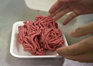 Fresh ground beef is packed at a local butcher shop, October 1, 2012 in Levis Que. Russia has banned the import of food products from Canada and other western countries for the next year. THE CANADIAN PRESS/Jacques Boissinot