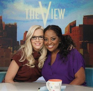"This image released by ABC shows outgoing co-hosts, Jenny McCarthy, left, and Sherri Shepherd on the set of ""The View,"" Thursday, Aug. 7, 2014 in New York. (AP Photo/ABC, Lou Rocco)"