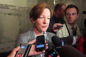 Alison Redford is pictured in Edmonton on May 5, 2014. THE CANADIAN PRESS/Dean Bennett