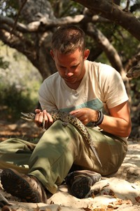 """Dominic Monaghan is shown in Kenya during season two of """"Wild Things with Dominic Monaghan"""" in this undated handout photo. THE CANADIAN PRESS/HO - Mike Reid, OLN/Rogers"""