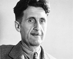 "FILE - This undated file photo shows writer George Orwell, author of ""1984."" The literary executor of George Orwell's estate is accusing Amazon.com of quoting Orwell out of context. In a letter published this week in The New York Times, Bill Hamilton criticized Amazon for ""turning the facts inside out"" by alleging that Orwell had urged publishers in the 1930s to jointly oppose paperbacks. The retailer cited an Orwell essay in which he wrote that ""if publishers had any sense,"" they would ""combine against"" and ""suppress"" paperbacks. Amazon and Hachette Book Group have been locked in a nasty standoff over terms for e-book sales. (AP Photo, File)"