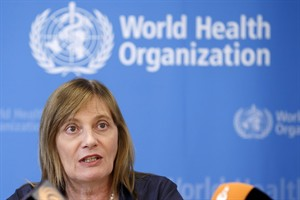 Marie-Paule Kieny, Assistant Director General of the World Health Organization,WHO, speaks to the media at the headquarters of the WHO in Geneva, Switzerland, Aug. 12, 2014. The World Health Organization is trying to dampen down runaway enthusiasm in some quarters for trying a number of untested compounds to treat Ebola in West Africa.THE CANADIAN PRESS/AP, Keystone, Salvatore Di Nolfi