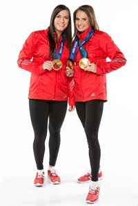 "Olympic gold medallists Meaghan Mikkelson (right) and Natalie Spooner won their fifth leg of ""The Amazing Race Canada,"" on Tuesday in a somber episode that ventured to Normandy, France. THE CANADIAN PRESS/HO"