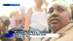 Trinity Arsenault, 14, completes historic swim across Lake Ontario