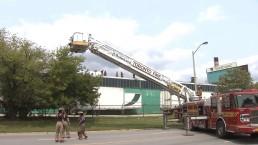 4 sent to hospital following industrial fire in Etobicoke