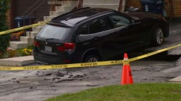 Sinkhole opens up on driveway of Scarborough home