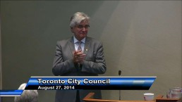 Retiring city manager Joe Pennachetti gives parting advice during emotional speech