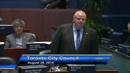 Mayor Ford thanks councillors for service during term at city hall