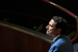 """FILE - In this Tuesday, Sept. 24, 2013 file photo, Captain Francesco Schettino waits for the arrival of the judges in the court room of the converted Teatro Moderno theater at the end of a pause of his trial, in Grosseto, Italy. A Rome university professor is facing a disciplinary hearing after inviting the captain of the shipwrecked Costa Concordia cruise liner to lecture students on emergency procedures. The dean of Rome's Sapienza University, Luigi Frati, on Wednesday, Aug. 6, 2014, expressed anger at a professor's decision to invite Capt. Francesco Schettino to give a seminar, calling it an """"inappropriate and unworthy choice."""" Italy's education minister called the news """"disconcerting."""" The Florence daily La Nazione reported that Schettino gave a two-hour lecture to criminal science masters candidates last month, including reference to panic management. Schettino is being tried for manslaughter, causing the shipwreck and abandoning ship over the January 2012 capsize of the Concordia, in which 32 people died. Passengers have described a chaotic evacuation. (AP Photo/Andrew Medichini, File)"""
