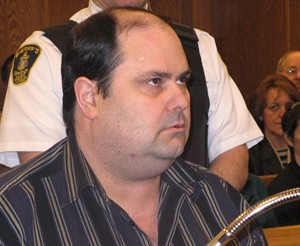 Nelson Hart is shown in court during closing arguments at his trial in Gander, Nfld., Monday, March 26, 2007. THE CANADIAN PRESS/Tara Brautigam