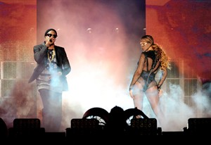 Beyonce and JAY Z perform on stage during the Beyonce and Jay Z - On the Run Tour at the Rose Bowl on Saturday, August 2, 2014, in Los Angeles. THE CANADIAN PRESS/AP, HO Parkwood Entertainment - Frank Micelotta