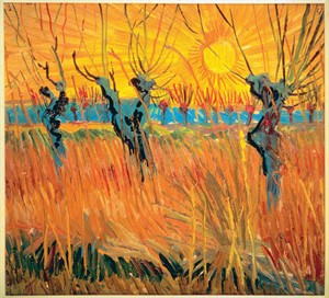 A photograph of Vincent van Gogh's painting, Pollard Willows and Setting Sun is seen in this undated handout photo. Van Gogh, Gauguin, Kandinsky and Andy Warhol will among the artistic legends that will have the spotlight thrown on them in shows at the Montreal Museum of Fine Arts this fall. THE CANADIAN PRESS/ HO, Montreal Museum of Fine Arts
