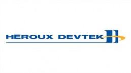 The logo of Heroux-Devtek (TSX:HRX), is shown. THE CANADIAN PRESS/HO