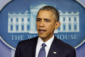 President Barack Obama speaks various topics including immigration reform and the House of Representatives, Friday, Aug. 1, 2014, in the Brady Press Briefing Room of the White House in Washington. (AP Photo/Jacquelyn Martin)