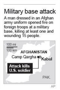 Map locates attack near Kabul.; 1c x 2 inches; 46.5 mm x 50 mm;