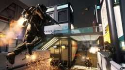"This image released by Activision shows a scene from ""Call of Duty: Advance Warfare,"" the latest installment of Activision Blizzard's wildly successful shoot-'em-up franchise. ""Advanced Warfare,"" scheduled for release Nov. 4, is setting the 10-year-old military series' sights squarely on the future. (AP Photo/Activision)"