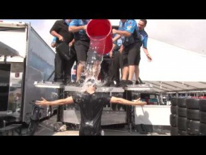 James Hinchcliffe Accepts the Ice Bucket Challenge 2