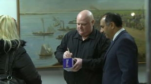 Rob Ford updates health & signs bobbleheads in Toronto
