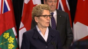John Tory meets with Kathleen Wynne at Queen's Park