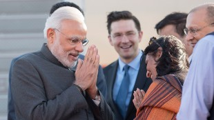 Prime Minister of India Narendra Modi arrives in Ottawa for a state visit on April 14, 2015. THE CANADIAN PRESS/Justin Tang
