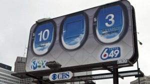 A billboard for Lotto Max and Lotto 6/49 is pictured in Winnipeg on May 23, 2011.  THE CANADIAN PRESS/Francis Vachon