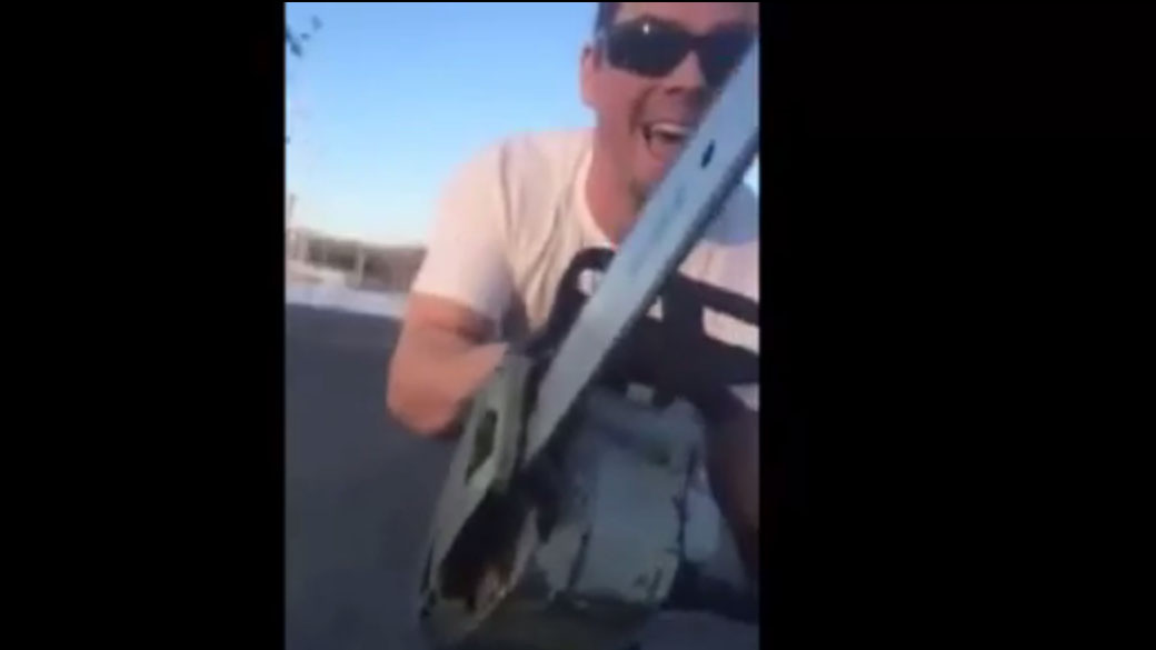 Man pulls chainsaw on a Quebec family in a road rage incident