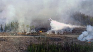 The Little Bobtail Lake wildfire, southwest of Prince George, B.C., is shown on Wednesday, May 13, 2015. Experts are blaming El Nino for speeding up nature's clock and forcing firefighters to deploy weeks ahead of normal to battle wildfires across rural Western Canada. They say the natural phenomenon that cycles every two to seven years has been activated early this year and is predicted to accelerate wildfire activity across the northwest. THE CANADIAN PRESS/HO - British Columbia Wildfire Management Branch