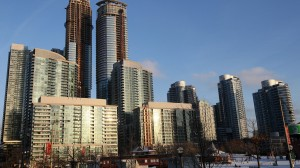 Condo buildings in downtown Toronto on Jan. 9, 2014. THE CANADIAN PRESS IMAGES/Lars Hagberg