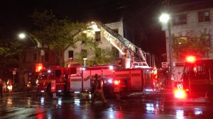 Emergency crews on scene after fire broke out at a home near Kensington Market, May 22, 2015. CITYNEWS