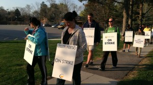 Secondary school teachers in Peel take to the picket lines, May 4, 2015. 680 NEWS/Carl Hanstke
