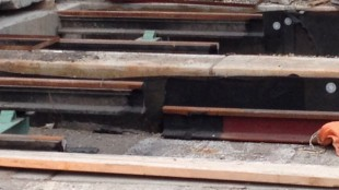 The streetcar tracks on Leslie were installed nine centimetres too high. BERT DANDY/CITYNEWS