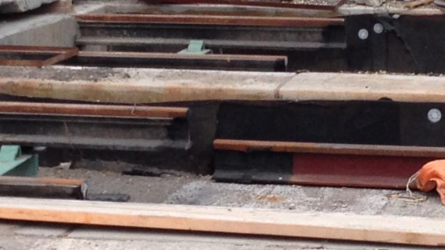 The streetcar tracks on Leslie were installed nine centimetres too high. BERT DANDY/CITYNEWS