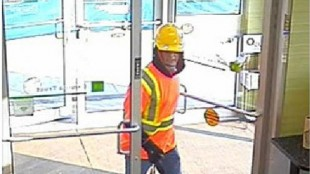 Peel police released this security camera image of a suspect in an alleged bank robbery in Mississauga on May 8, 2015. HANDOUT/Peel Regional Police