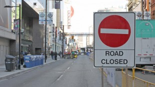 File photo of a construction sign on Yonge Street. CITYNEWS