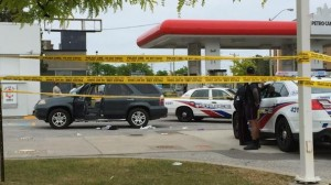 A man is dead after being shot in Scarborough at Bellamy Road and Lawrence Avenue East. 680NEWS/@Douglas680NEWS