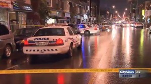 Police investigate after a woman was killed in a hit-and-run on Bloor Street West, May 31, 2015. CITYNEWS