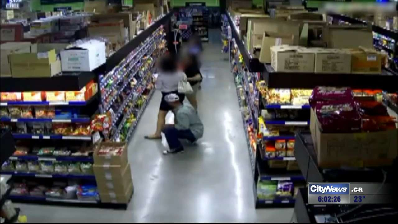 upskirt grocery store play