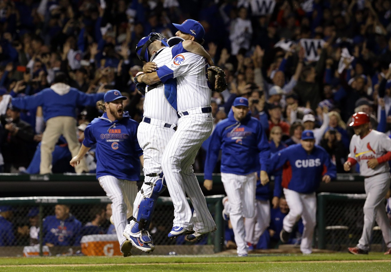cubs clinch post-season series at wrigley field for 1st time, beat
