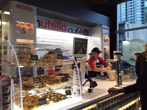 Canada S First Nutella Caf 233 Opened Today At Sobey S Spadina