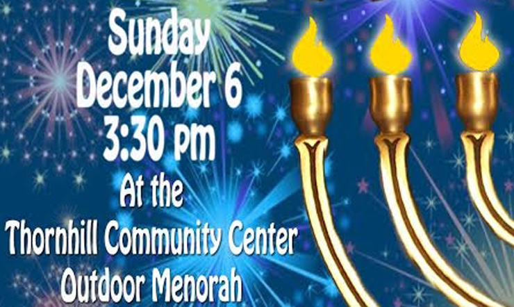 Chabad Markham Menorah lighting event for Hannukah