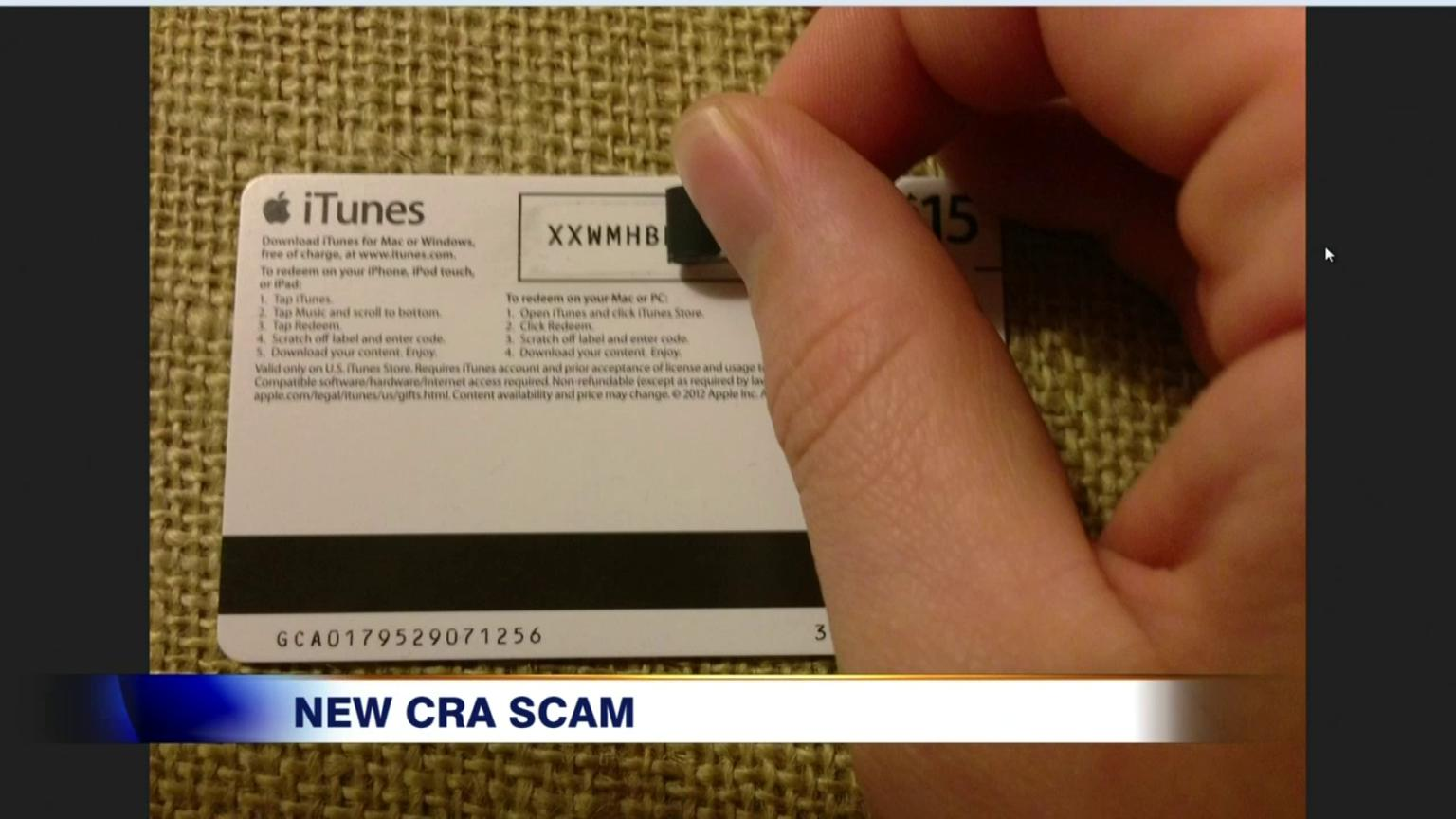 how to put itunes gift card on iphone pressured to buy gift cards in cra scam 20945