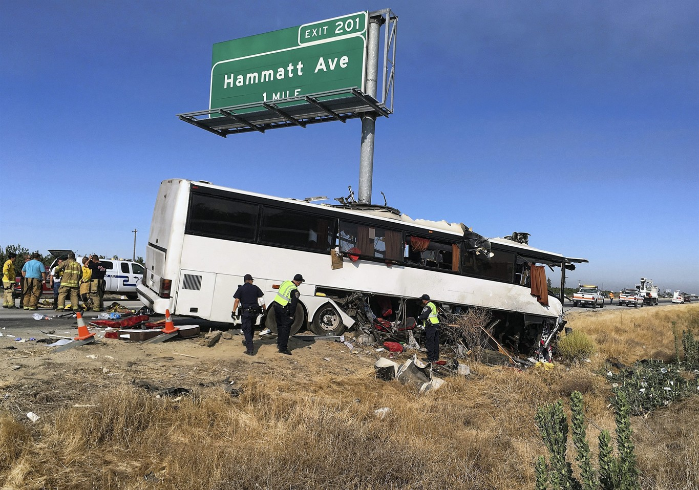 4 Dead Identified As Cause Of California Bus Crash Probed