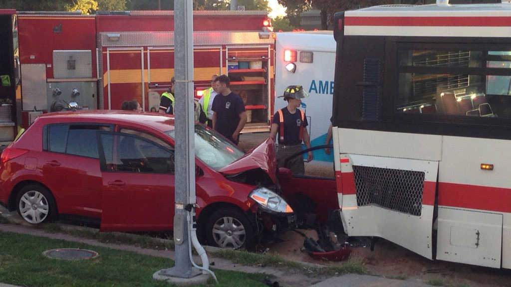 Person found without vital signs after vehicle, TTC bus collide in Scarborough