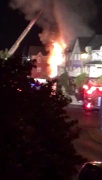 Video: Oakville townhouse fire causes major damage
