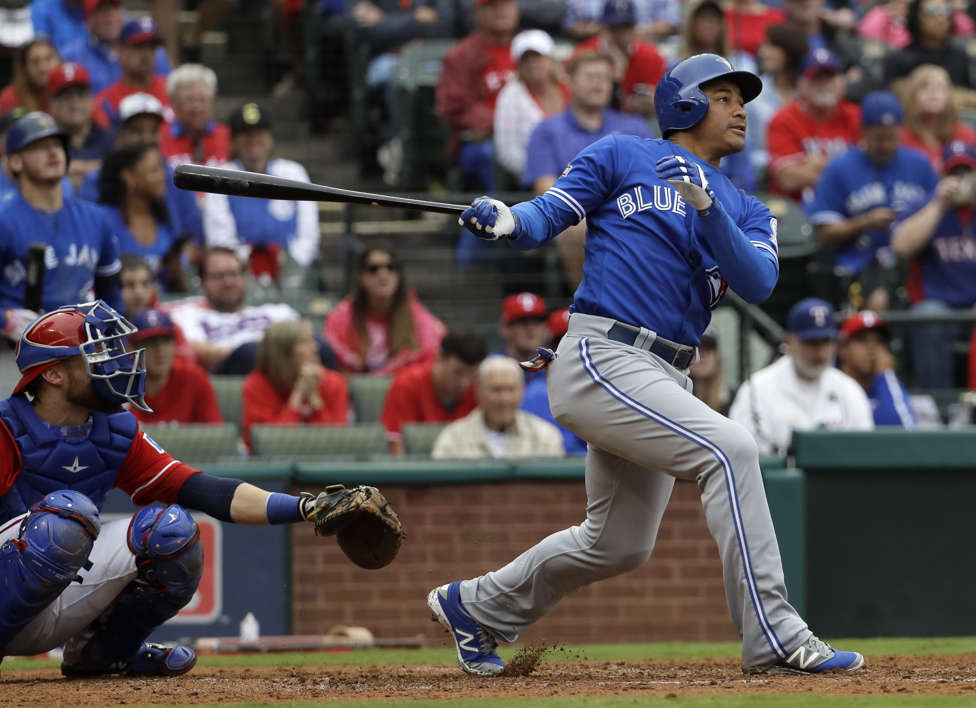 f544fb885 Jays use the long ball to leave Rangers in a hole in the ALDS