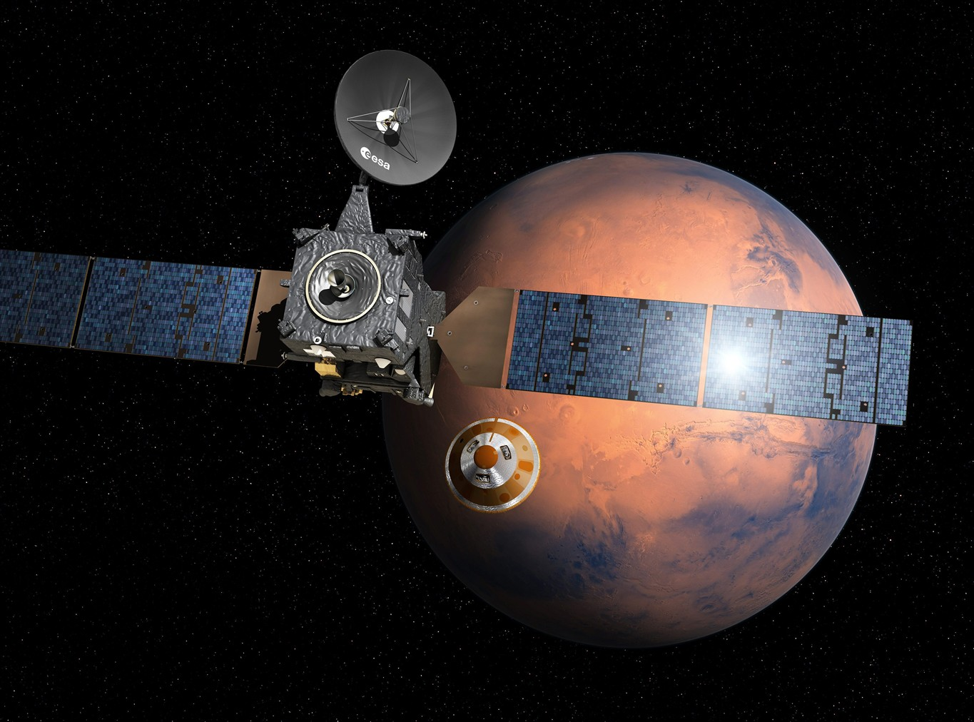 Mars probe enters atmosphere; word on landing awaited