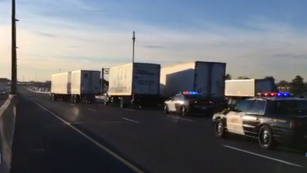 Man hit by truck on Highway 401